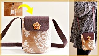 DIY No Sew Bag * Easy & Simple *  Recycling Plastic Bottle & Old Clothes