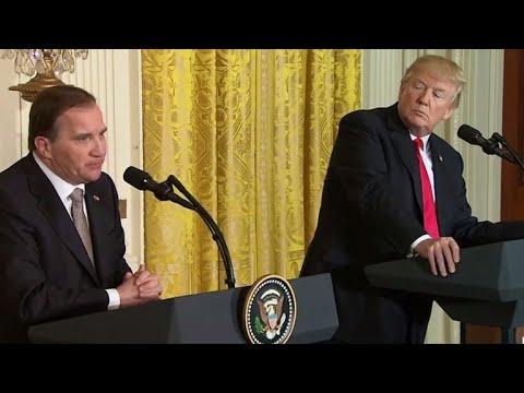 Trump, Swedish PM Lofven at odds over tariffs