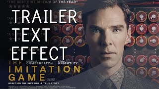 Puzzle INTRO Reveal │ After Effects TUTORIAL (IMITATION Game Trailer TEXT EFFECT!)