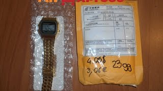 Unboxing acquisti Aliexpress - Replica Orologio Casio senza loghi (Casio without logo)