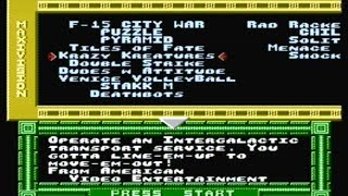 Maxi 15 NES Multicart Part 1 - F15 City War, Puzzle, Pyramid, Tiles of Fate