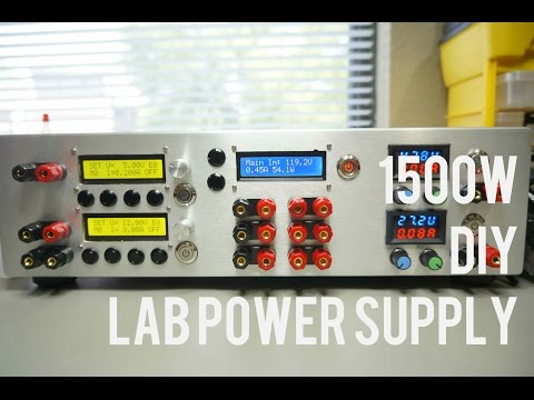 1500w DIY Lab Power Supply with - ZXY6005S - LTC3780 - ZXY6010S