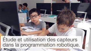 Les capteurs en programmation - cursus Algora 9/14 ans