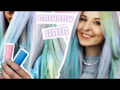 rainbow hair selber machen diy haare f rben mit haarkreide bonnytrash youtube. Black Bedroom Furniture Sets. Home Design Ideas