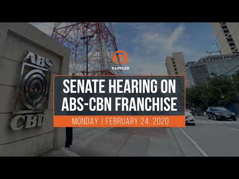 Senate hearing on ABS-CBN franchise
