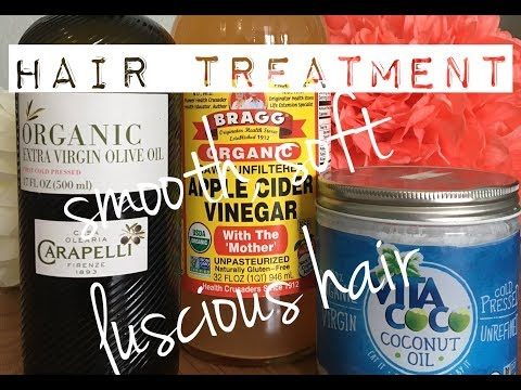 Coconut Oil, Olive Oil and Apple Cider Vinegar Hair Treatment