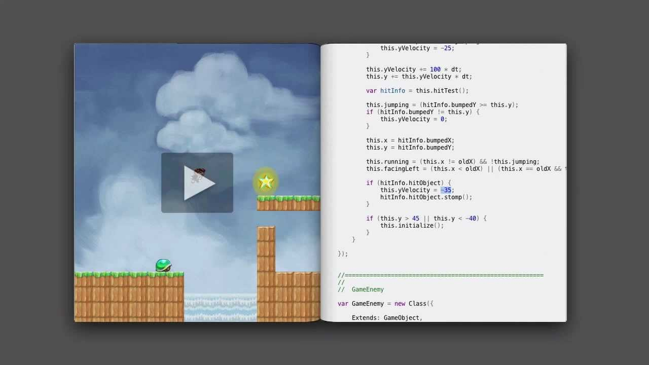 Bret Victor présente une interface de développement de jeu