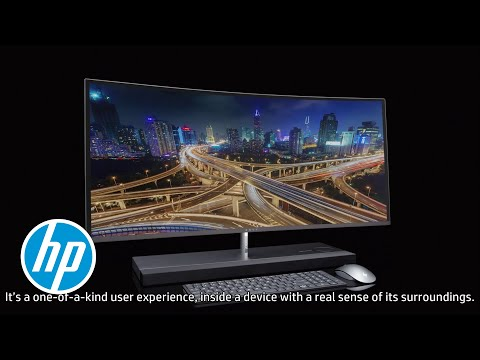 HP ENVY Curved All-in-One. Total immersion. Absolute seduction.