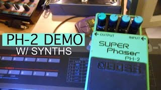 Boss/Roland PH-2 Super Phaser Pedal Demo w/ Synthesizers #8