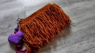 crochet fringe purse | crochet tamil | with English subtitle
