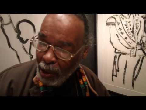 Artist Frank Frazier at the Harlem Fine Arts Show 2012