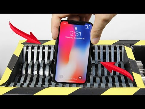 Experiment Shredding Apple Iphone X And Toys So Satisfying   The Crusher