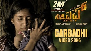 Garbadhi Full Video Song | KGF Kannada Movie | Yash | Prashanth Neel | Hombale Films