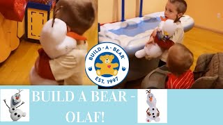 Five Year Old Makes First Toy At Build-a-bear Workshop: Olaf The Snowman