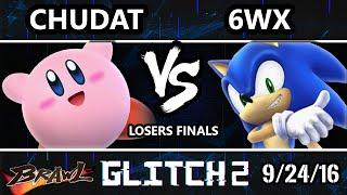 Glitch 2 Brawl - Circa | 6WX (Sonic) Vs. VGBC | Chudat (Kirby) SSBB Losers Finals
