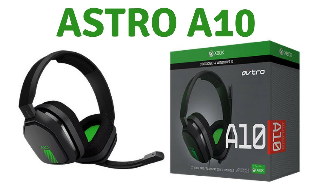 Astro A10 Gaming Headset For Xbox One Unboxing Youtube