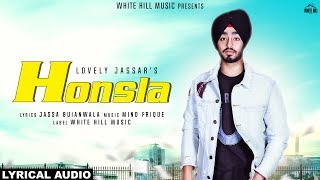 Honsla (Lyrical Audio) Lovely Jassar | New Punjabi Song 2018 | White Hill Music