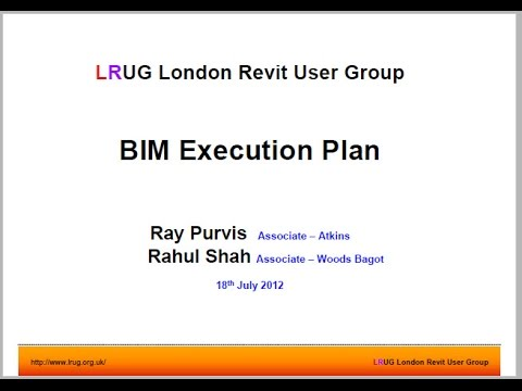 015 BIM Execution Plan Discussion