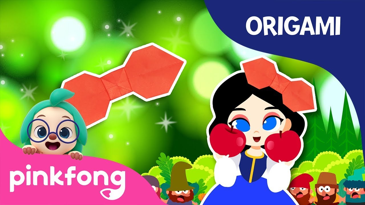 Snow Whites Ribbon | Pinkfong Origami | Origami and Songs | Pinkfong Crafts for Children