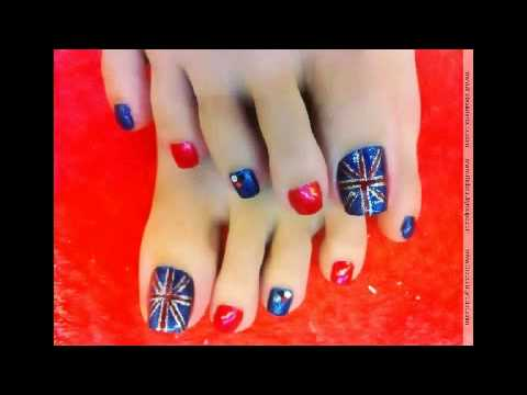 Diseños de Uñas de Pies 2014 - YouTube