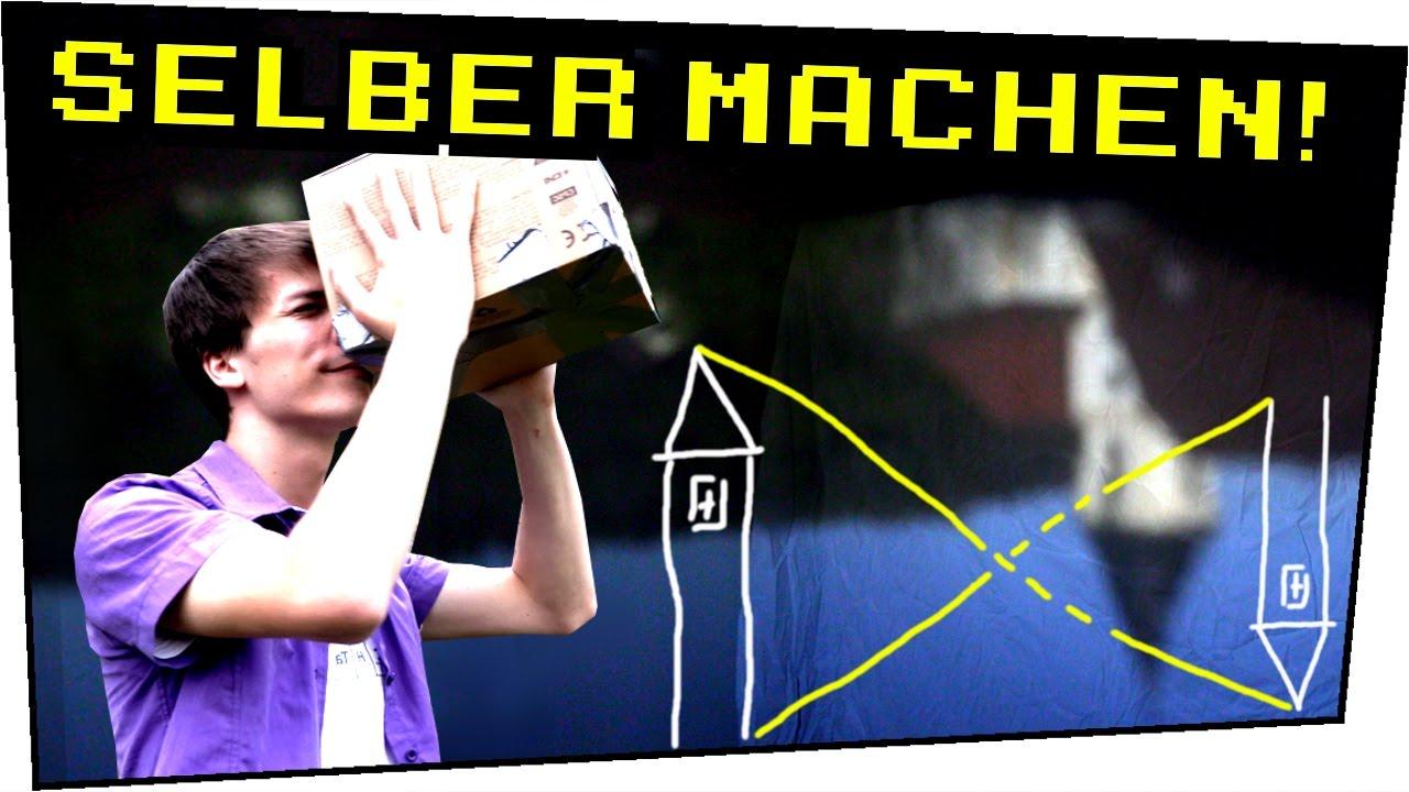 Extrem Lochkamera aus Pappkarton bauen! Camera Obscura selber machen IE95
