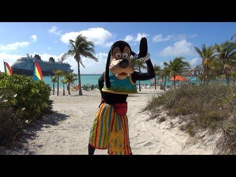 Characters on Castaway Cay - Mickey, Minnie, Goofy, Pluto, Daisy, Captain Jack - Disney Cruise Line