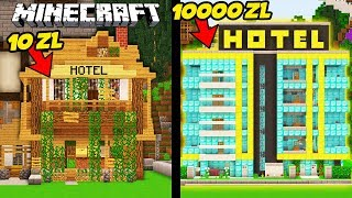 HOTEL ZA 10 ZŁ VS HOTEL ZA 10000 ZŁ W MINECRAFT!    MINECRAFT PRESTIŻ