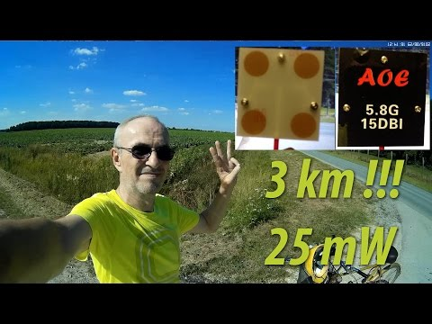 3km FPV Range Test With 15 dBi Panel Antenna And Just 25 mW VTX