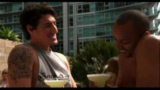 Eric Balfour in low cut off athletic shirt