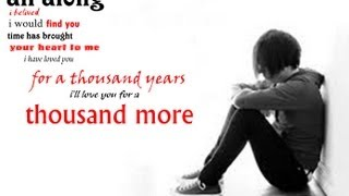 ★★ A Thousand Years ★ Christina Perri ★ Lyrics video ★★