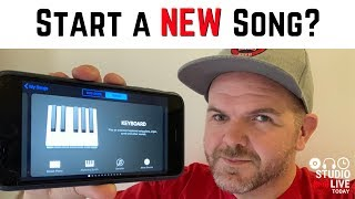 How to start a new song in GarageBand iOS (iPhone/iPad)