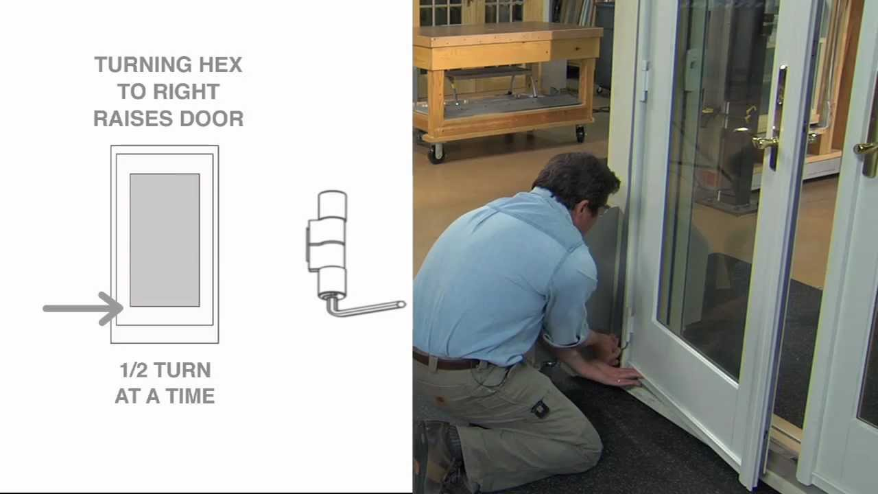 How To Adjust A Frenchwood Outswing Patio Door - YouTube