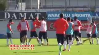 Trabzonspor antrenmanında kavga