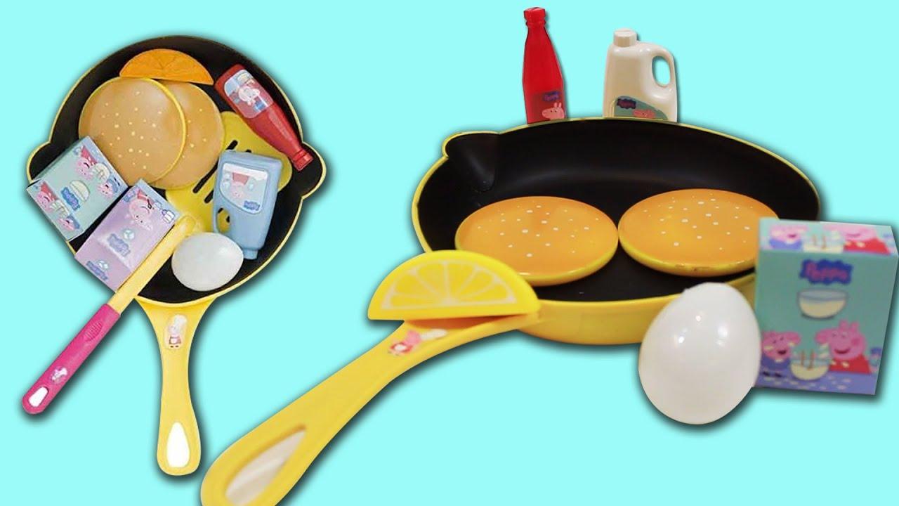 Peppa Pig Cooking Play Set Pancake Frying Pan Flip N Serve Pretend Play Kitchen  For Kids   Unbox Me  Kitchen For Kids