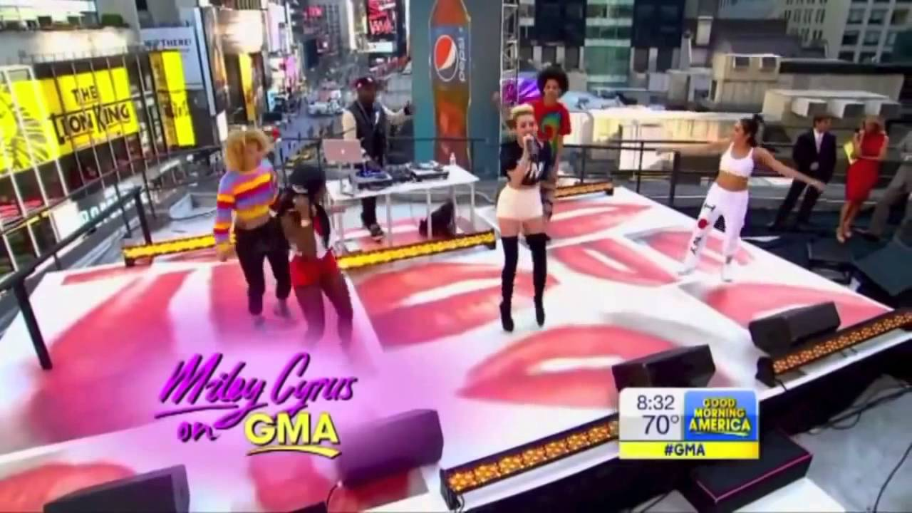 Good Morning America Watch Live : Miley cyrus we can t stop live on good morning america