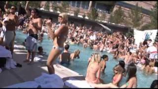 Busty bikini beauty Heidi Montag at new Liquid Pool in Aria at City Center