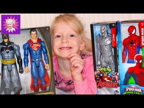 Человек паук Бэтман и другие супергерои Распаковка игрушек с детьми! Spider Man Unpacking toys with