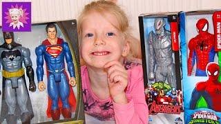 Людина павук, Бетмен і інші супергерої Розпакування іграшок з дітьми! Spider Man Unpacking with toys
