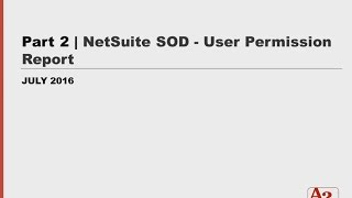 #54 | Part 2: Running NetSuite Roles and Permissions Report