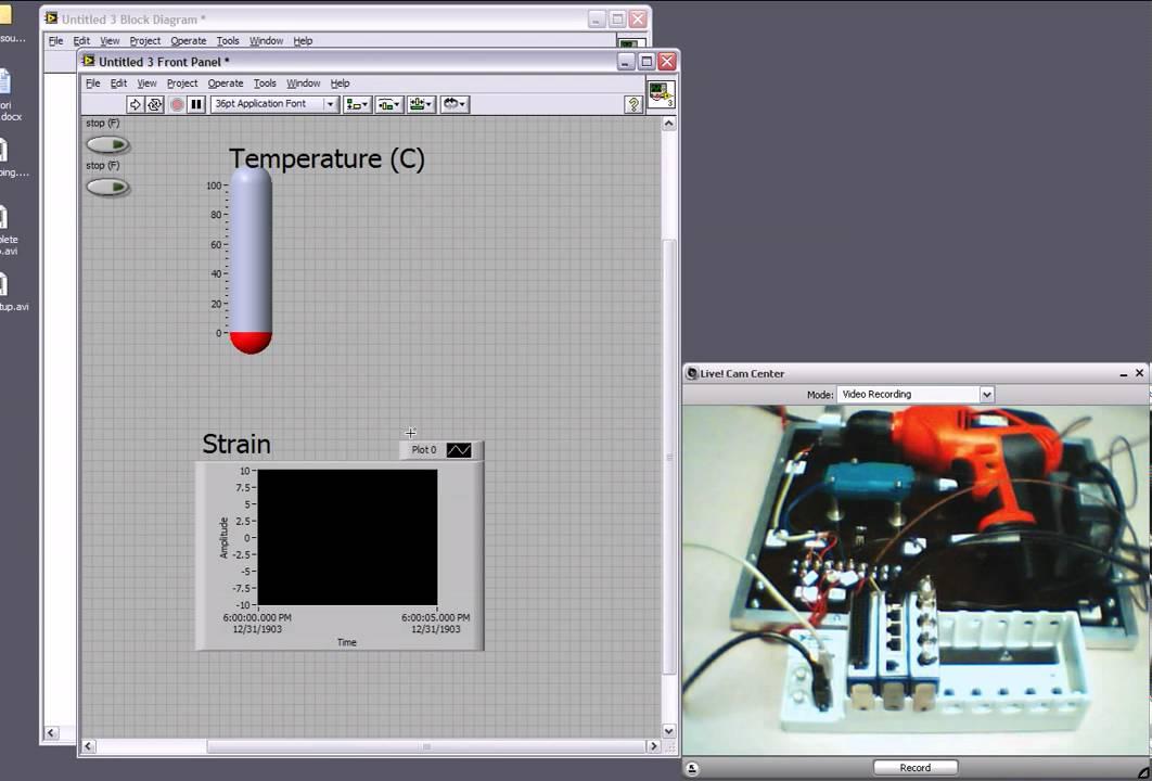 Temperature strain and sound measurement funnydog tv