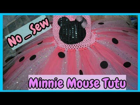 Minnie Mouse No Sew Tutu Dress | DIY How To Make A Tutu Dress