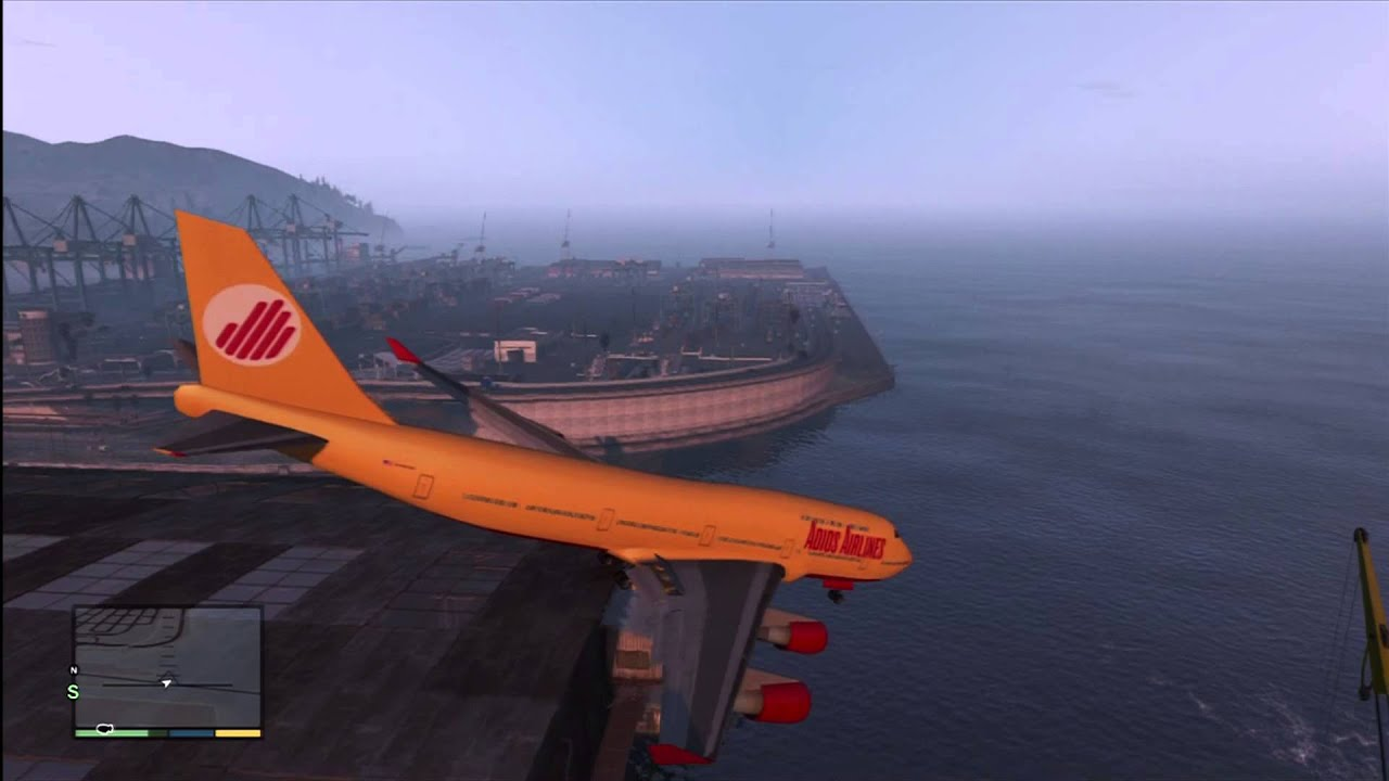 Gta V 747 Slowest Gta V Plane Crash Youtube
