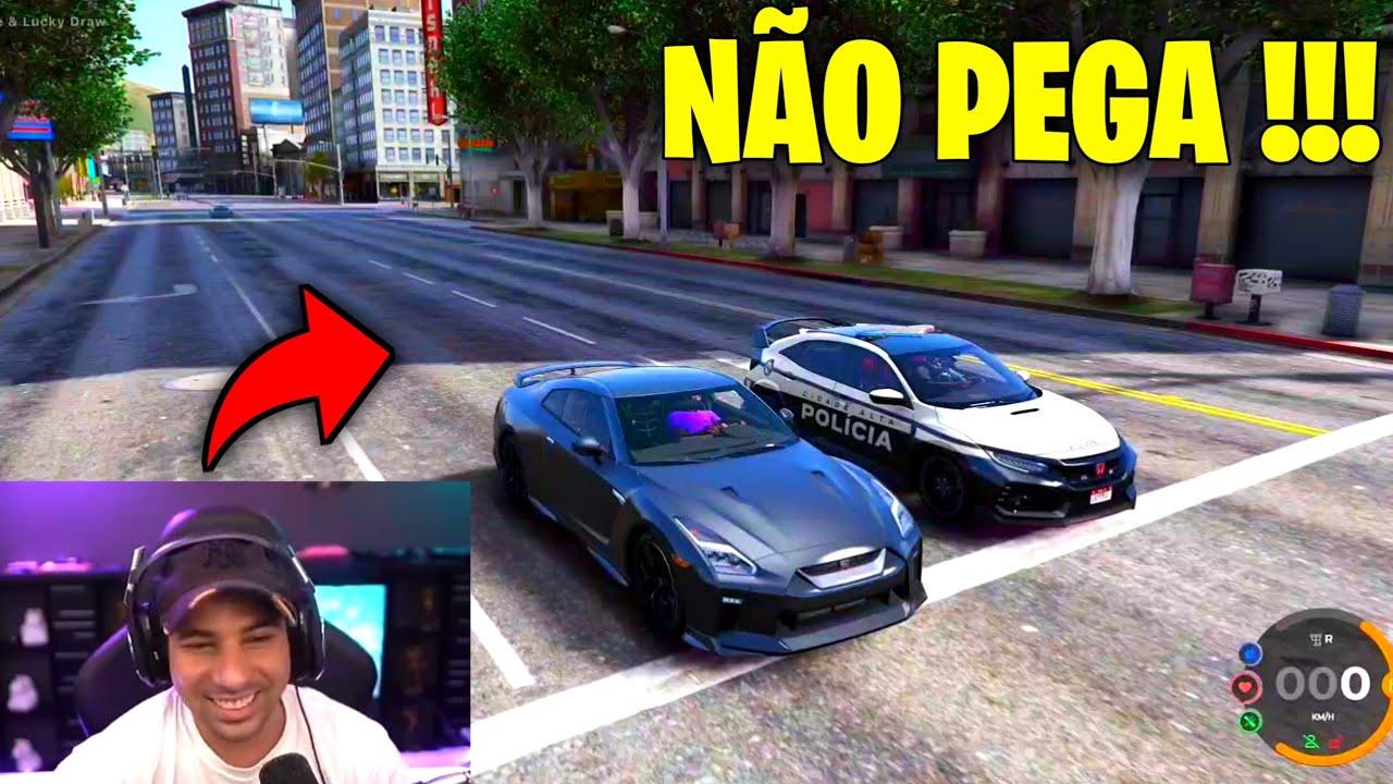 PIUZINHO DEU A MELHOR FUGA DO GTA RP !!!