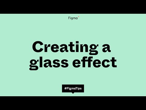 Adding a glass effect to your designs