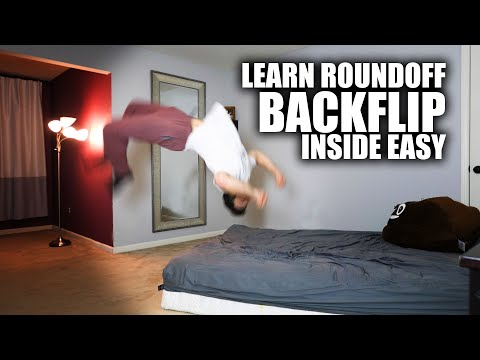 Learn Roundoff Backflip - In Home Parkour - No Fear Progression