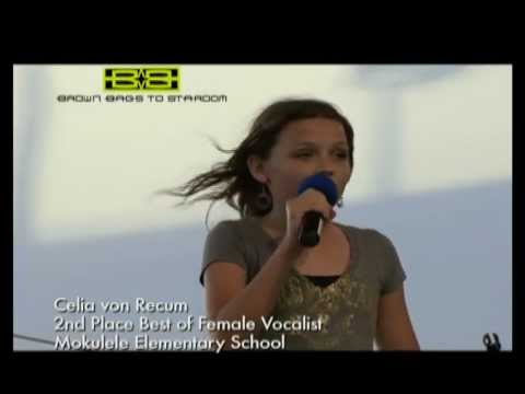 Celia von Recum 2nd Place Best of Female Vocalist - Mokulele Elementary School