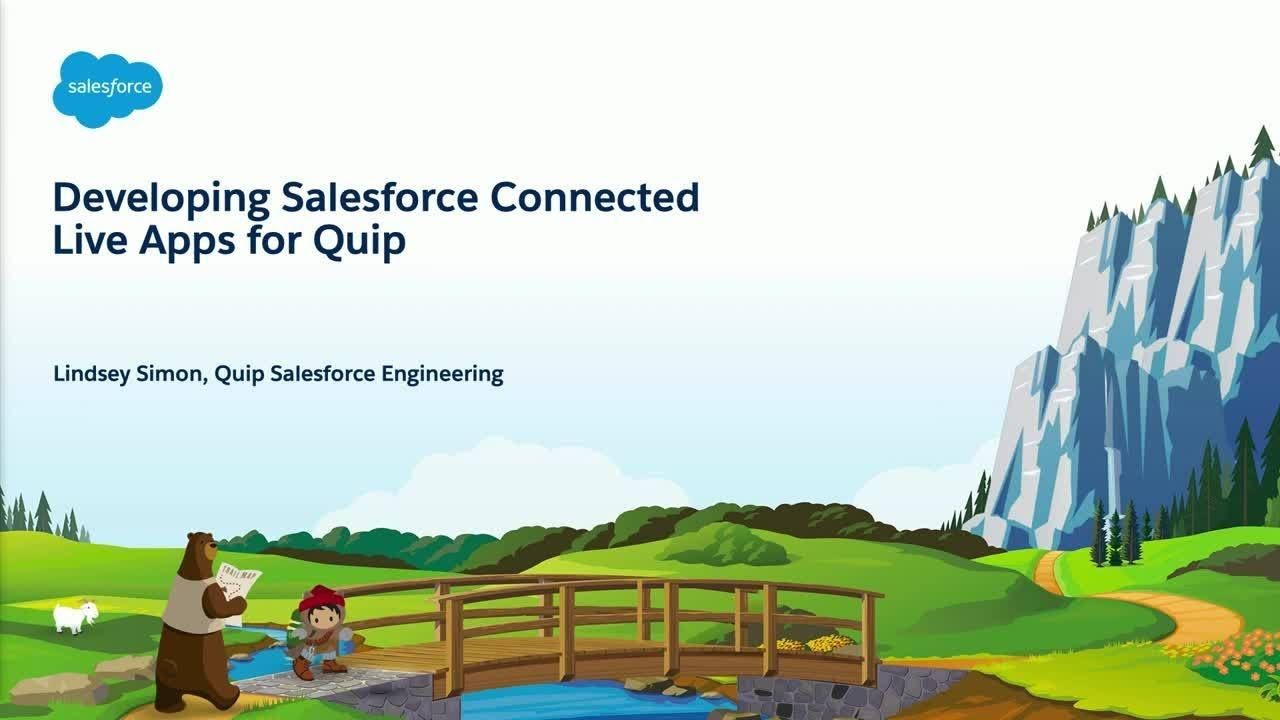 Developing Salesforce-Connected Live Apps for Quip - YouTube