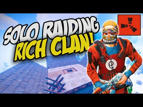 RAIDING A SUPER RICH CLAN BASE! - Rust Solo Survival Gameplay