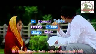 Tere Naam Hum Ne Kiya Hai Hindi karaoke for Male singers with lyrics (ORIGINAL TRACK)