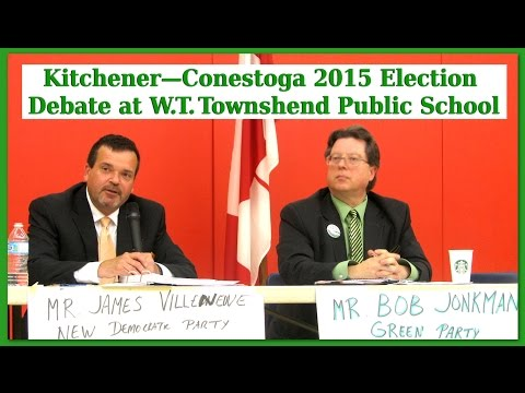 Kitchener-Conestoga 2015 Election Debate at W.T. Townshend P